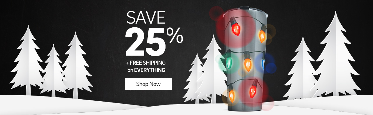 Save 25% plus free shipping on everything. Click to shop now.