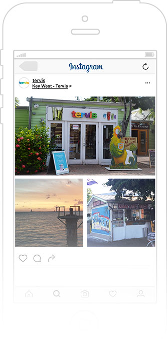 Key West points of interest posted on Instagram