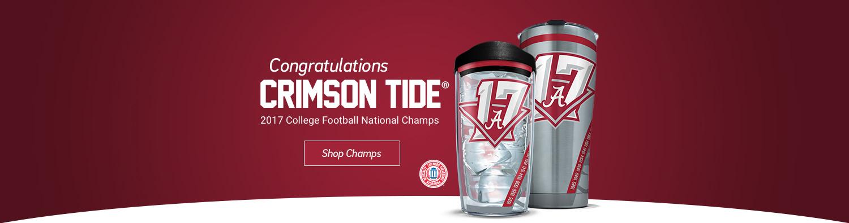 Congratulations Crimson Tide® - 2017 College Football Champs - Click to shop champs.
