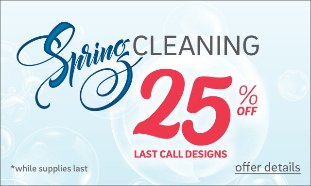 Save 25% on Last Call Designs