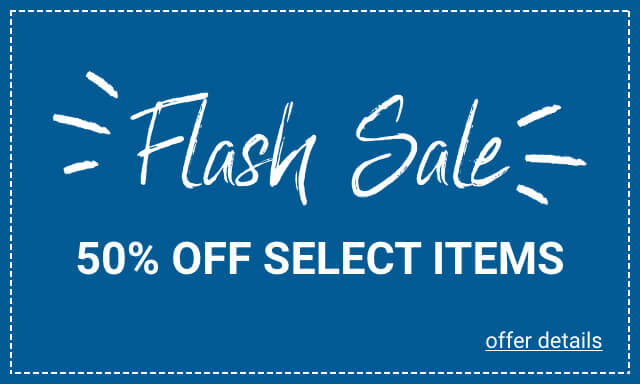 Flash Sale 50% Off Select Items - Click for details