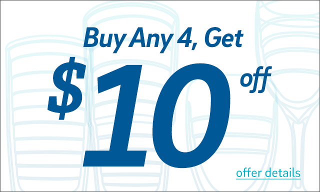 Buy 4 cups, Get $10 Off