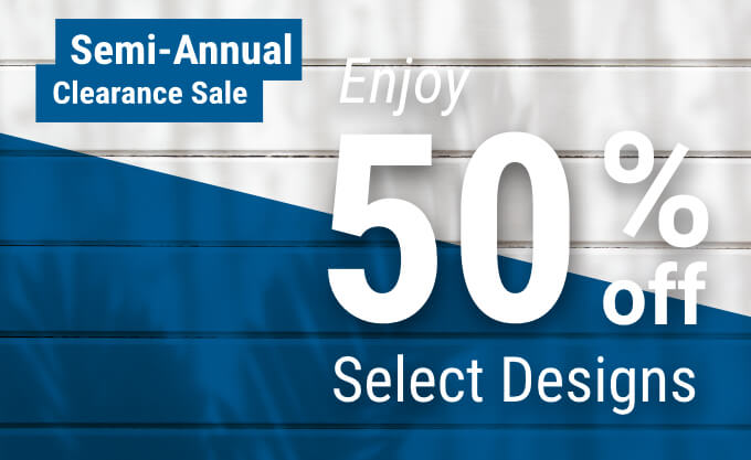 Semi-Annual Clearance Sale. Enjoy 50% Off Select Designs