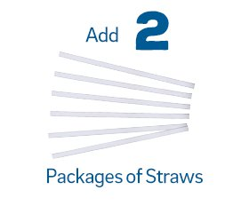 Add 2 Straw Packages