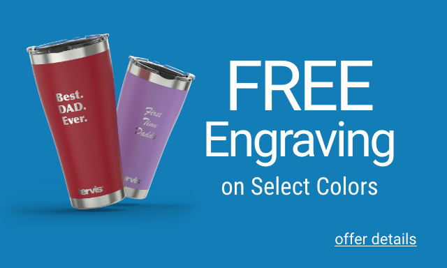Free Engraving on Select Colors - Click for details