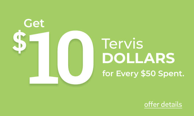 Get $10 Tervis Dollars for Every $50 Spent - click for details