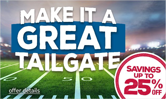 Make it a great tailgate - click for details