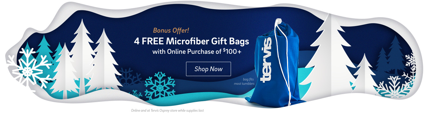 Bonus Offer - 4 Free Microfiber Bags with online purchase of $100+ - Click to shop now.
