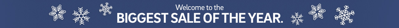 Welcome to the biggest sale of the year. Save 25% plus Free Shipping on Everything.  Click for details.