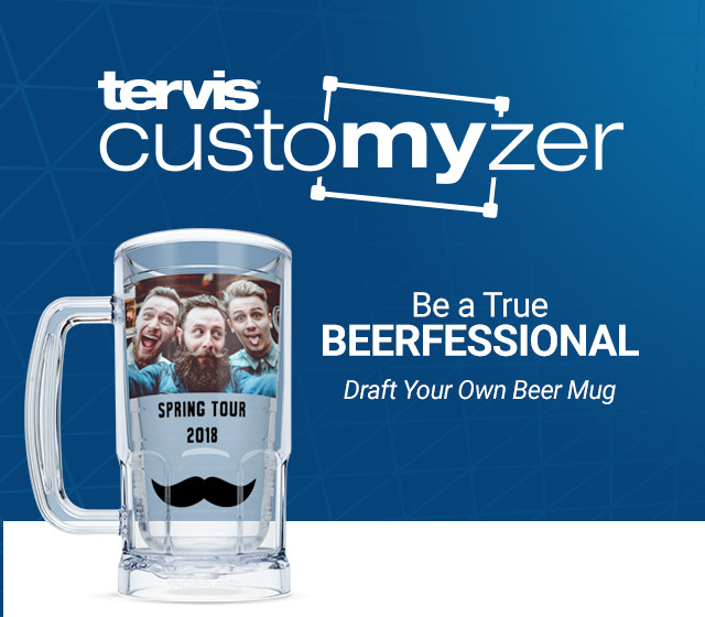 Tervis Customizer - Be a true Beerfessional. Draft your own beer mug.