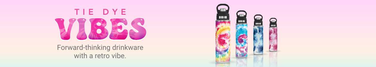 Tie Dye Vibes - Forward-thinking drinkware with a retro vibe.