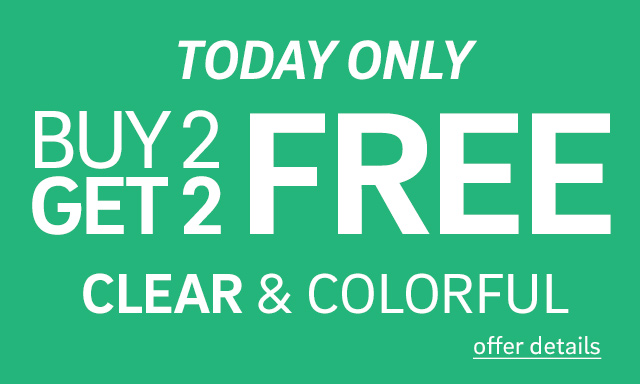 Buy 2, Get 2 Clear & Colorful