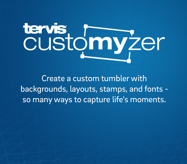 Create a custom tumbler with backgrounds, layouts, stamps & fonts - so many ways to capture life's moments.