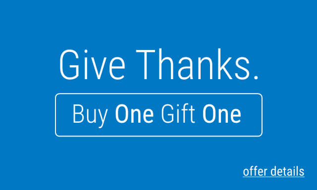 Give Thanks. Buy One, Give One. Click for Details