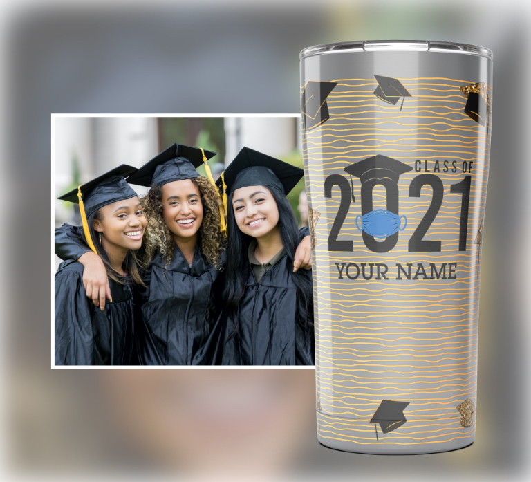 Tervis Classic Tumbler Customized to read 'The Tassle was worth the hassle'