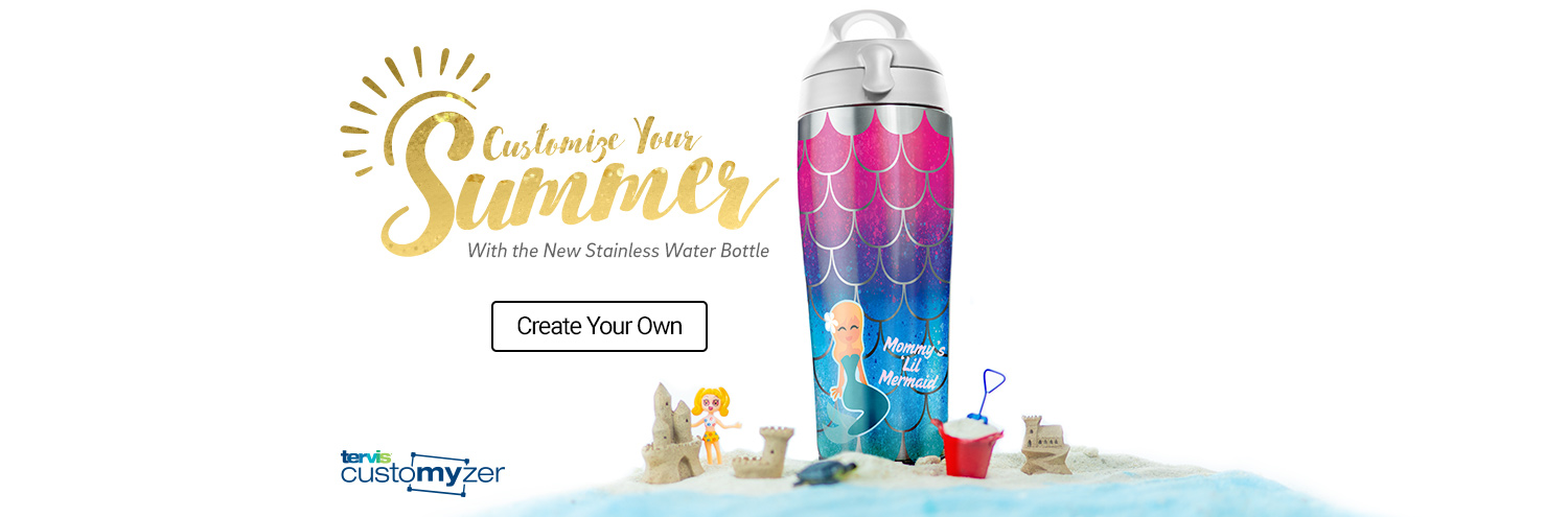 Customize Your Summer with new stainless steel water bottle - create your own
