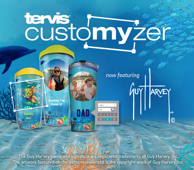 Tervis Customizer - now featuring Guy Harvey