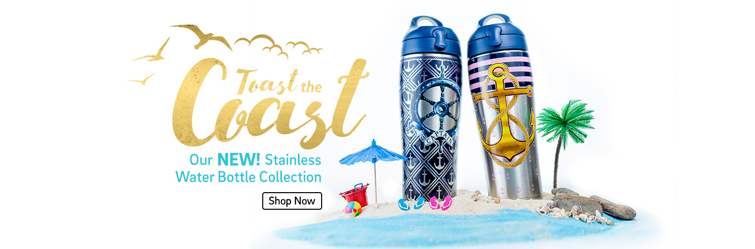 Toast the Coast- Our New Stainless Water Bottle Collection - Shop Now