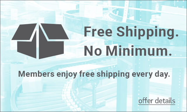 Free Shipping. No Minimum. Members enjoy free shipping every day. - Click for details