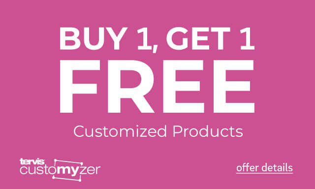 Buy 1 Get 1 Free Customized Products - Click for details.